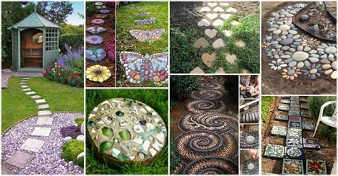 decorative garden stepping stones home design