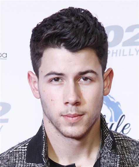 Nick Jonas Short Wavy Formal Hairstyle   Dark Brunette (Plum)