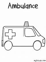 Ambulance Coloring Pages Transportation Printable Drawing Getcoloringpages Kb Printables sketch template