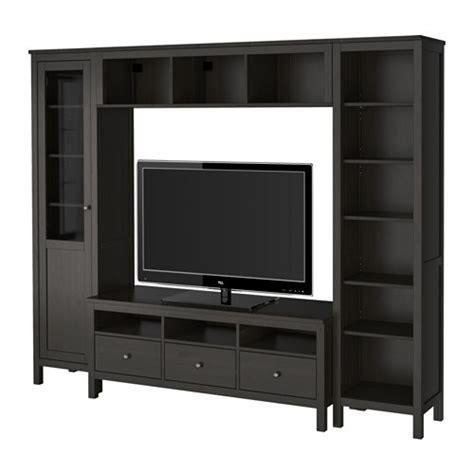 hemnes tv storage combination black brown ikea