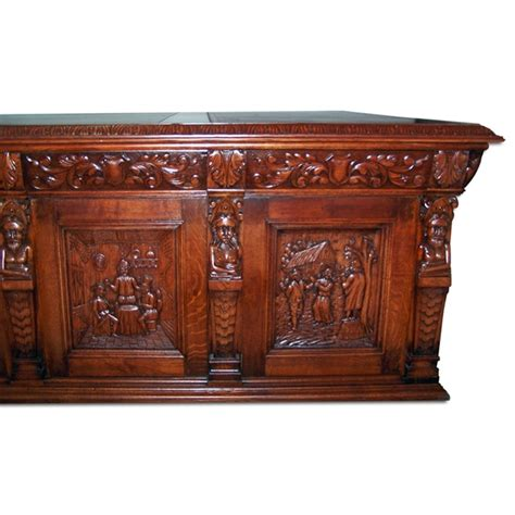 antique desks for sale monumental carved figural oak executive desk for sale