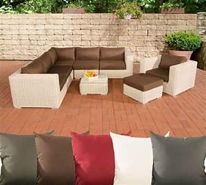 Lounge Set Garten : poly rattan gartenm bel lounge set ariano perlwei garten loungem bel 5 farben ebay ~ Yasmunasinghe.com Haus und Dekorationen