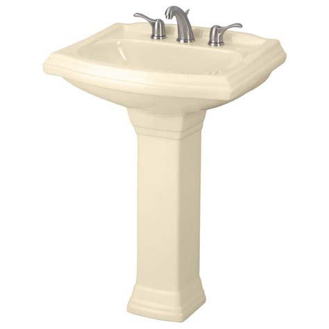 bone colored bathroom sinks gerber allerton pedestal combo bathroom sink in bone