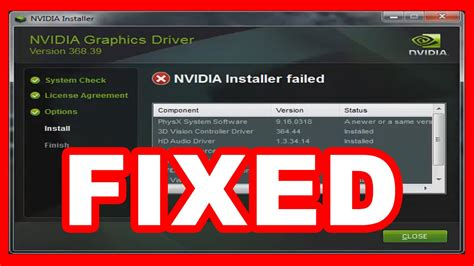 how to fix quot nvidia installer failed quot error windows 7 10 youtube