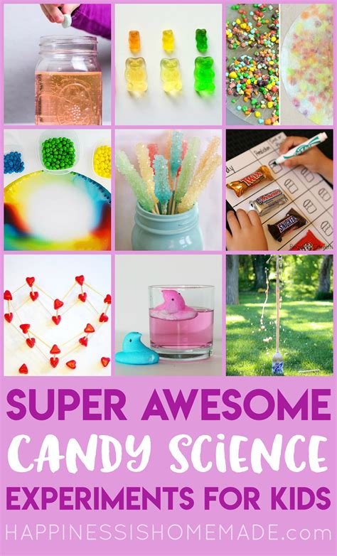 candy science experiments  kids happiness  homemade