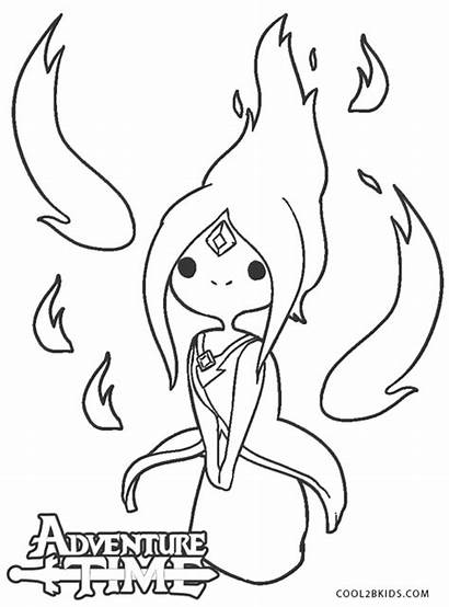 Adventure Coloring Pages Princess Flame Printable Cool2bkids