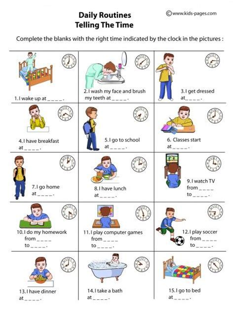 free printable daily routine schedules daily routines index school ot worksheets