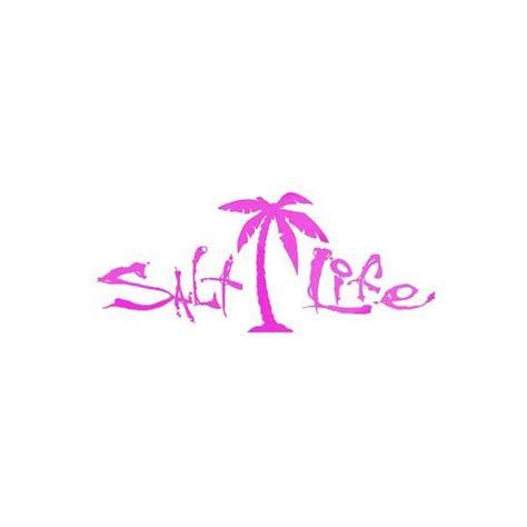salt life sa pink signature palm tree decal