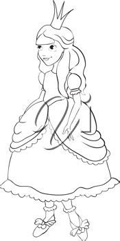 iclipart princess   crown contour dibujos