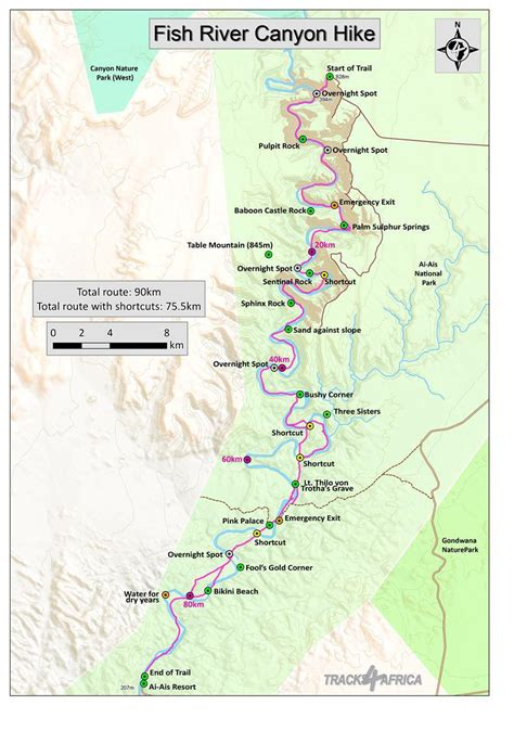 fish river canyon hike namibia itinerary tips map