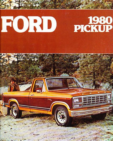ford  series truck  page sales brochure