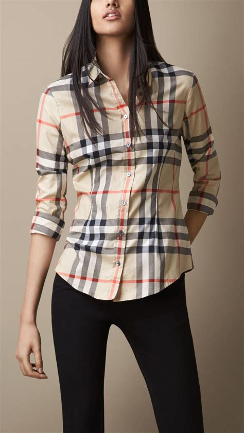 burberry blouse burberry exploded check shirt in multicolor