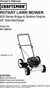 Craftsman 917385131 User Manual Lawn Mower Manuals And