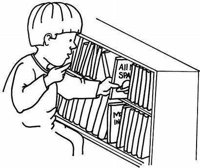 Put Coloring Bookshelf Pages Kid Shelf Drawing