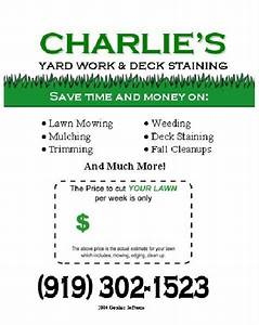 16 best images about lawn care flyers on pinterest flyer With landscaping flyers templates