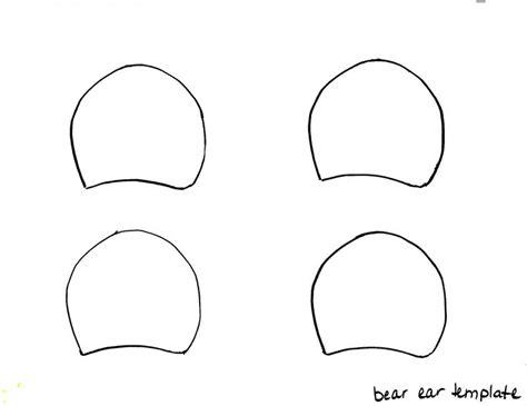 bear ears headband template gallery  ear template
