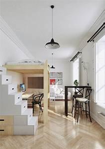 Deco studio et petit appartement 4 exemples remarquables for Decoration petit appartement idee