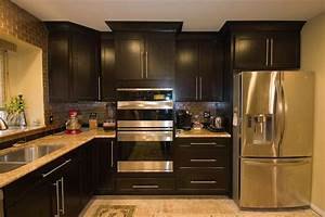 dark cabinets cabinets small kitchen enchanting home With small dark kitchen design ideas