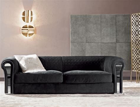 Upholstery Couches by Nella Vetrina Rugiano Amnesia 6052 320 Black Upholstered