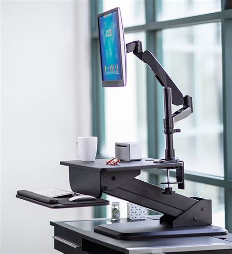 sit stand desk converter sit stand desk converter and height adjustable monitor
