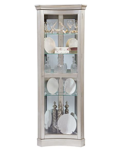 Macys Corner China Cabinet by Curio Cabinet Concave Corner Furniture Macy S