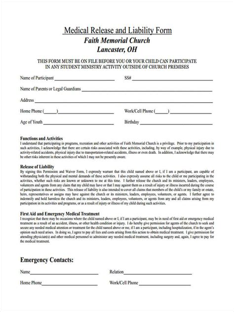 FREE 13+ Release of Liability Forms in PDF   MS Word
