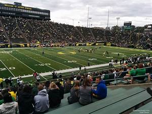 Autzen Stadium Seating Chart Autzen Stadium Section 34 Rateyourseats Com