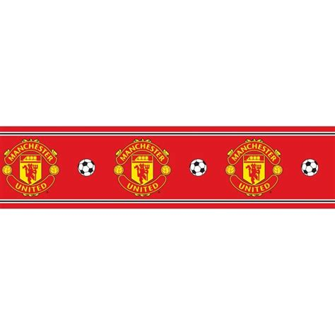 textured paintable wallpaper decofun manchester united official border bo50000