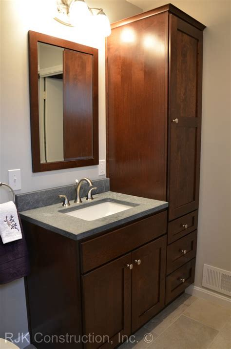 bathroom vanity  tall side cabinet google