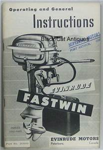 Original Evinrude Fastwin Outboard Owners Manual 14 Hp