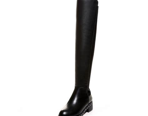 kopen goedkoop zjvi stretch lederen dij hoge laarzen vrouwen  de knie  herfst winter