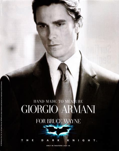 bruce wayne bale batman armani christian giorgio suits knight suit dark icon fanpop background hd im dressed begins posters gorgeous