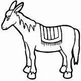 Donkey Coloring Drawing Mexican Burro Drawings Donkeys Colorluna Clip Clipartmag Computer sketch template