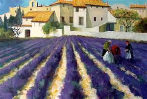 Painting of lavender field Provence France by Clark Esplin ...
