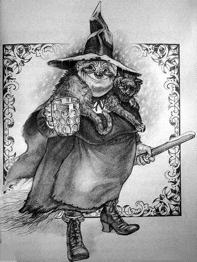 Nanny Ogg - Discworld, Terry Pratchett | Art Inspired by the Discworld - Guild of Cunning