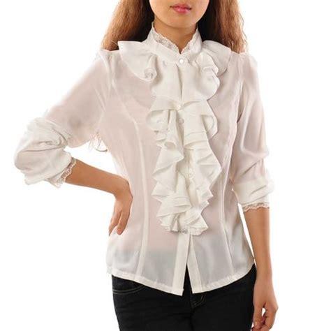 ruffled white blouse cheap white ruffle blouse find white ruffle blouse