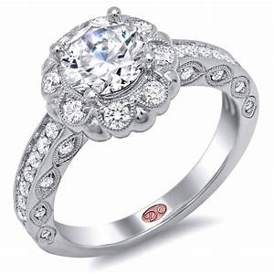 flower inspired engagement rings demarco bridal jewelry With jewelry wedding rings