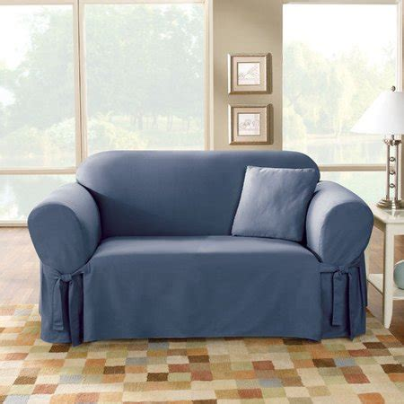 Cotton Duck Loveseat Slipcover by Sure Fit Cotton Duck Loveseat Skirted Slipcover Walmart