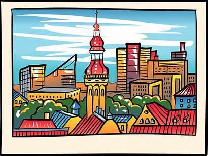 Tallinn Estland Vektor Mittelalterliche Alte Stadt Stad