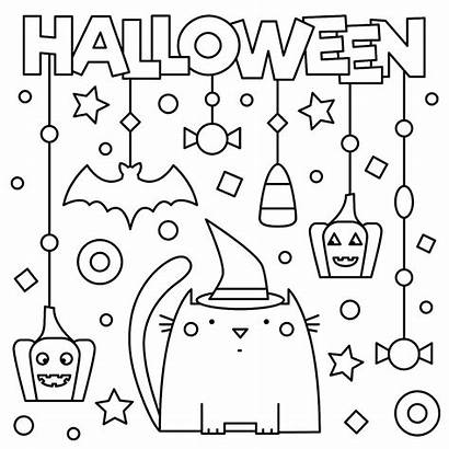 Coloring Pages Halloween Printable Activities Spooky Printables