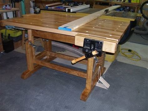 woodwork adjustable height workbench  plans