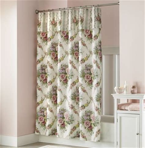cottage shower curtain with attached valance from