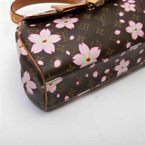 louis vuitton bag cherry blossom  brown monogram canvas  floral pattern  sale  stdibs