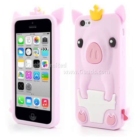 phone cases for iphone 5c crown pig soft silicone for iphone 5c light