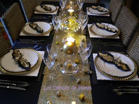 ma table de r 233 veillon noir et or les d 233 lices de mimm