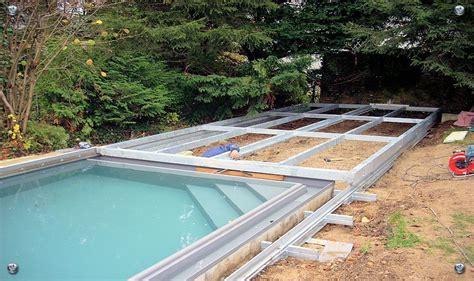 koertge metallbau poolabdeckung poolabdeckung schwimmbaeder hinterhof und schwimmbadueberdachung