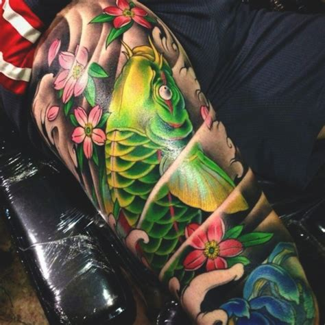 traditional koi fish tattoo designs  meanings