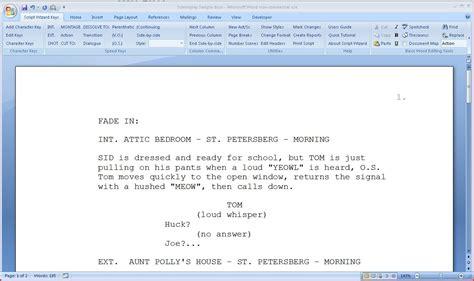 Microsoft Word Screenplay Template by Script Wizard Software Scriptwizard Screenplay
