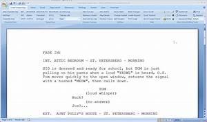 screenwriting software free With microsoft word screenplay template