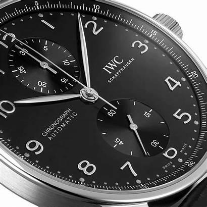 Portugieser Iwc Chronograph Chronograaf Horloge Zwart Watchdreamer